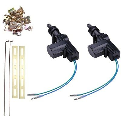 Universal 2 Door Power Central Lock Kit with 2 Wire Actuator For Auto Vehicle