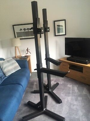 Watson Gym Heavy Duty Squat Stands in Black