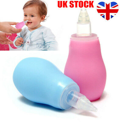 Handy Soft Baby Silicone Nasal Aspirator Vacuum Sucker Nose Mucus Snot Cleaner