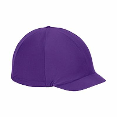 Shires Hat Cover Unisex Safety Wear - Purple One Size