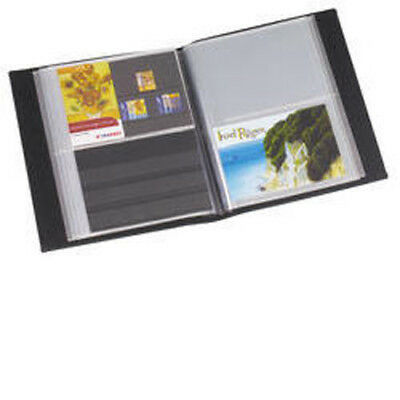 Lighthouse Postcard album with 50 clear pockets, blue