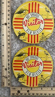 Two Travel Label Visitor Hot Springs, New Mexico~117374