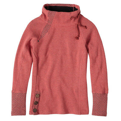 PrAna Women's Lucia Sweater Sunwashed Red XL