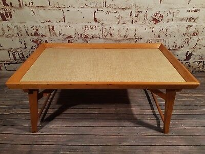 Vintage Retro Folding Portable Lap Bed Tray Table VW Camping Picnic 1960s 1970s