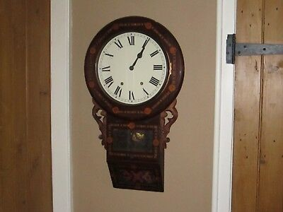 Antique 1860's New Haven American Wall Clock In V.g.w.o.