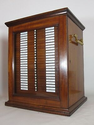 Antique Microscope Slide Cabinet complete with 992 of the very finest Specimens.