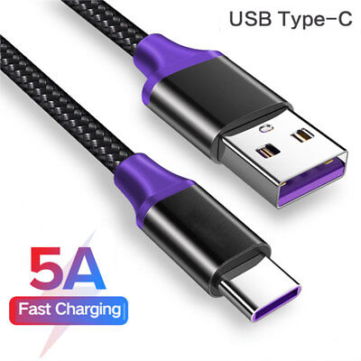 5A CAVO DATI USB TIPO C 3.1 TYPE-C Charger Per Samsung Note 9/Mate20 Carica Fast