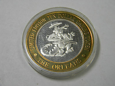Silver Ten Dollar Gaming Token The Orleans Alligator