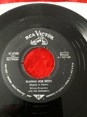 Elvis Presley Playing For Keeps RCA Victor 47-6800 Army Version !!