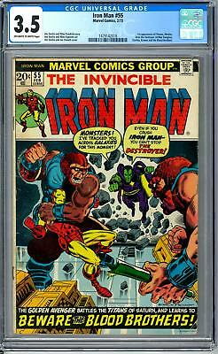 Iron Man #55 CGC 3.5 (OW-W) 1st Appearance of Thanos & Drax Infinity War