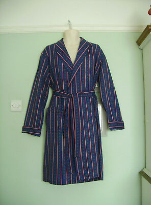 Tootal Vintage 70's Striped Dressing Gown / Smoking Jacket/robe Sz M 60's/50's