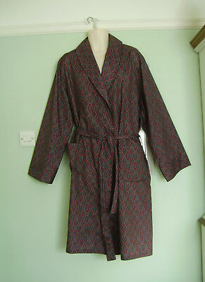 Lloyd Attree & Smith Vintage 70's Paisley Dressing Gown / Smoking Jacket Xl 60's