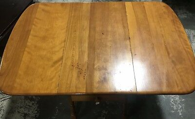 HEYWOOD WAKEFIELD BUTTERFLY DROP LEAF DINING TABLE GOOD CONDITION w/DRAWER