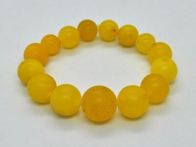16.68gr Natural Baltic Bracelet Amber Egg Yolk Graduated Natural Genuine Stone