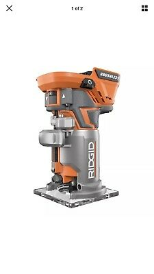 New RIDGID R86044 18V Li-Ion GEN5X  Brushless Compact Router w/ Fixed Base