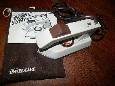 NORELCO TRAVEL CARE STEAM/DRY TRAVEL IRON W/SPRAY Model T165 WORKING
