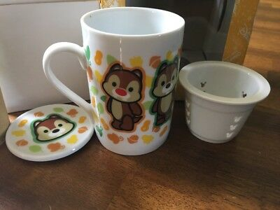 Disneyland Hong Kong Tea Infuser Cup - Chip 'n' Dale