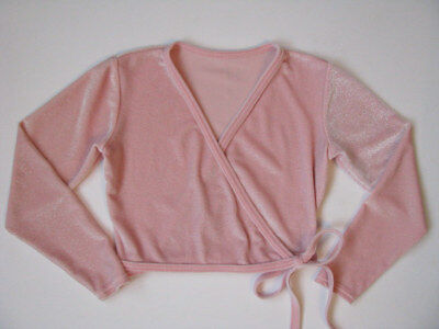 MotionWear Pink Stretch Velour Shrug Cover Wrap Top girls MC M 8 10 Dance Ballet