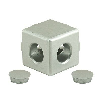 80/20 Inc T-Slot Aluminum 2 Way Light Squared Connector 10, 25 Series #14154 N