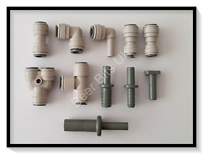 Bar/ Drinks Equipment John Guest 3/8 5/16 3/16 beer Speedfit push fit stem reducer connector fittings