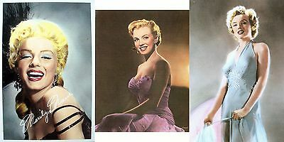 Marilyn Monroe - Set of three hand-tinted photographs (4¼ x 6 in. Postcards) NEW
