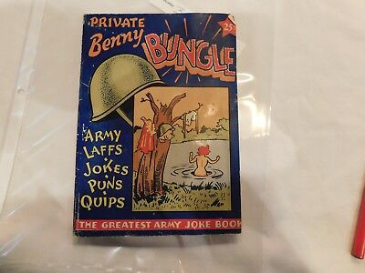 US Army WWII Private Benny Bugle 1943 Copyright 128 Pages GI's Encyclopedia FUN