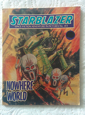 """Starblazer #43 """"NOWHERE WORLD"""" published by DC Thomson dated 1981"""