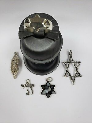 Judaica Sterling Silver  4 Pendants & One Ring