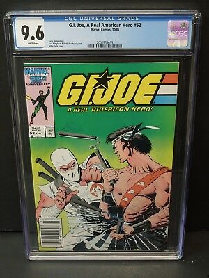 Marvel Comics Gi Joe, A Real American Hero #52 1986 Cgc 9.6 Wp Newsstand