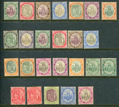 ST KITTS NEVIS 1903-18 MH Lot to 5 Shillings 25 Stamps