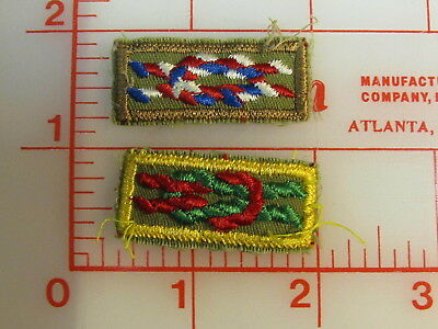 2 Award knot patches Eagle , Arrow of Light  (rL)