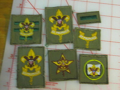 7 70's rank & office patches (rL)