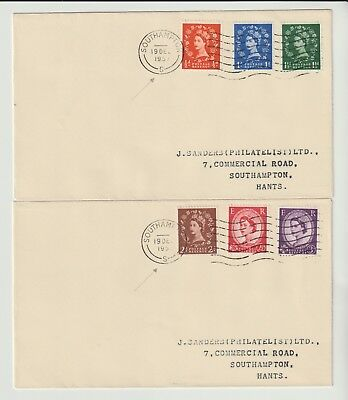 GB STAMPS FIRST DAY COVER 1957 PHOSPHOR S MACHINE WILDINGS PAIR c£75