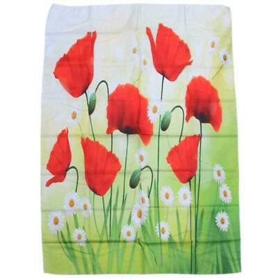 2X(Poppy Decor Tapestry, Spring Environment With Poppies And Daisies On The D9S2