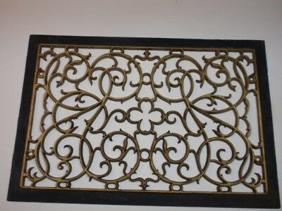 Antique Ornate Cast Iron Grate Floor Wall Vent Register 21x14