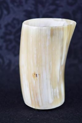 Vintage Chinese Horn Libation Cup Finely Made & Polished