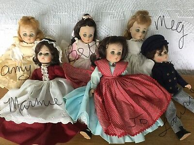"VINTAGE 1960s MADAME ALEXANDER LITTLE WOMEN 12"" COMPLETE SET OF 6"