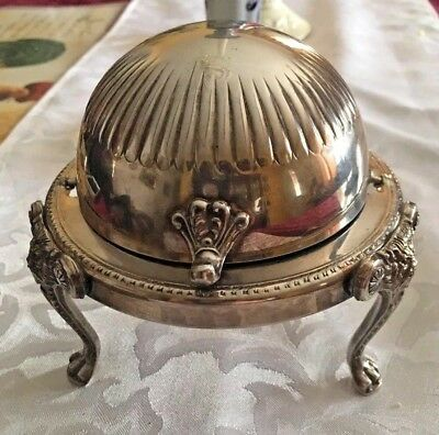 FB Rogers Silverplate Roll Top Lion Footed Butter Dish -  $.99 NO RESERVE!!