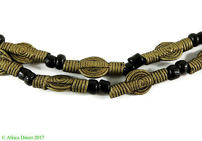 Brass Coin Shaped Beads Baule Ivory Coast Africa SALE WAS $19.00
