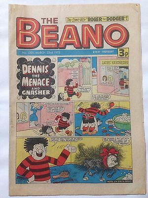 DC Thompson THE BEANO Comic. Issue 1705 March 22nd 1975 **Free UK Postage**