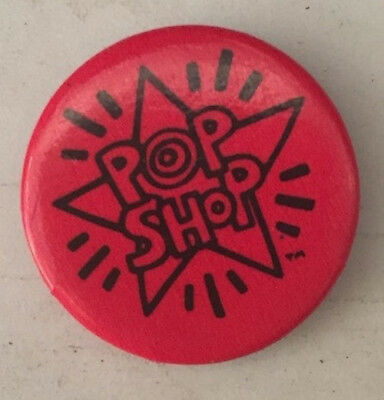 KEITH HARING POP SHOP original RARE RED art pin  Authentic vintage New York