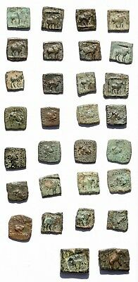 *sc* Valuable Large Lot Of 30 Greek Bactrian Bronze Coins!