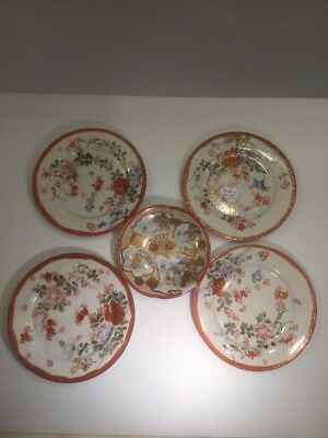 Japanese Plates 19th Century Signed TASHIRO