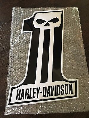 Ande Rooney Harley Davidson Number One Skull Tin Sign New Free Shipping
