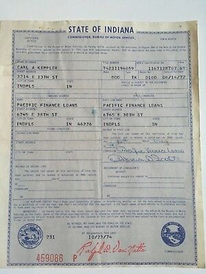 1969 Dodge Truck D-100 Indiana Historical Document.
