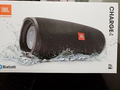 Brand New Jbl By Harman-Charge 4 Portable Bluetooth Speaker Midnight Color Black
