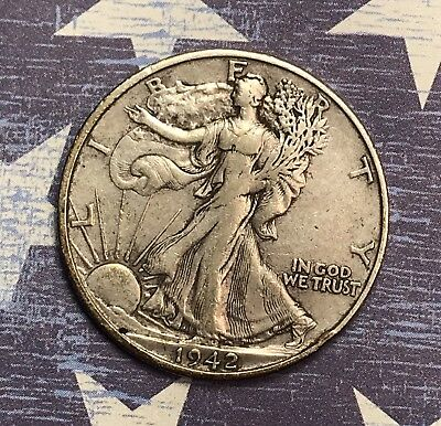 1942-S Walking Liberty Silver Half Dollar. Collector Coin For Your Collection