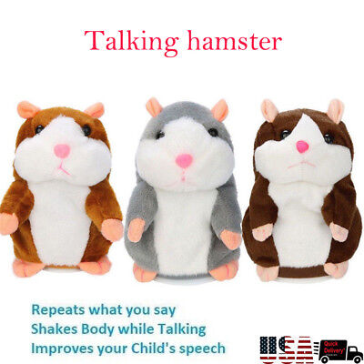 US Cute Cheeky Hamster Talking Mouse Pet Christmas Toys Speak Sound Record Gift