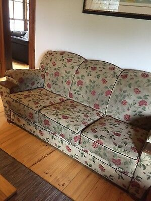 Club Lounge large, 3 seater, 2 single seaters with ottomans, BELGRAVE VIC PICKUP