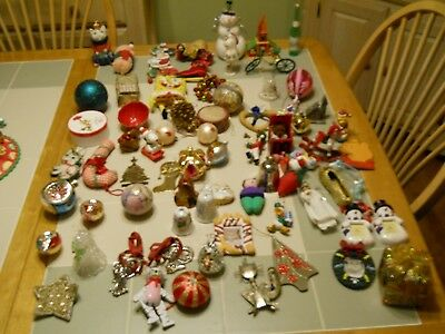 Large Lot Of Christmas Tree Ornaments Vintage 1960s+